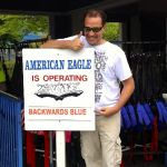 Six Flags Great America - American Eagle backwards - 002